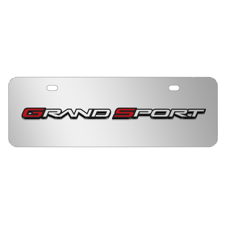 "Chevrolet 2005 Corvette C6 Grand Sport in 3D Mirror Chrome 12""x4"" Half-Size Stainless Steel License Plate"