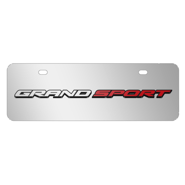 "Chevrolet 2014 Corvette C7 Grand Sport in 3D Mirror Chrome 12""x4"" Half-Size Stainless Steel License Plate"