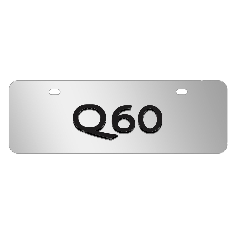 "INFINITI Q60 Name Brush 12""x4"" Half-Size Metal License Plate"