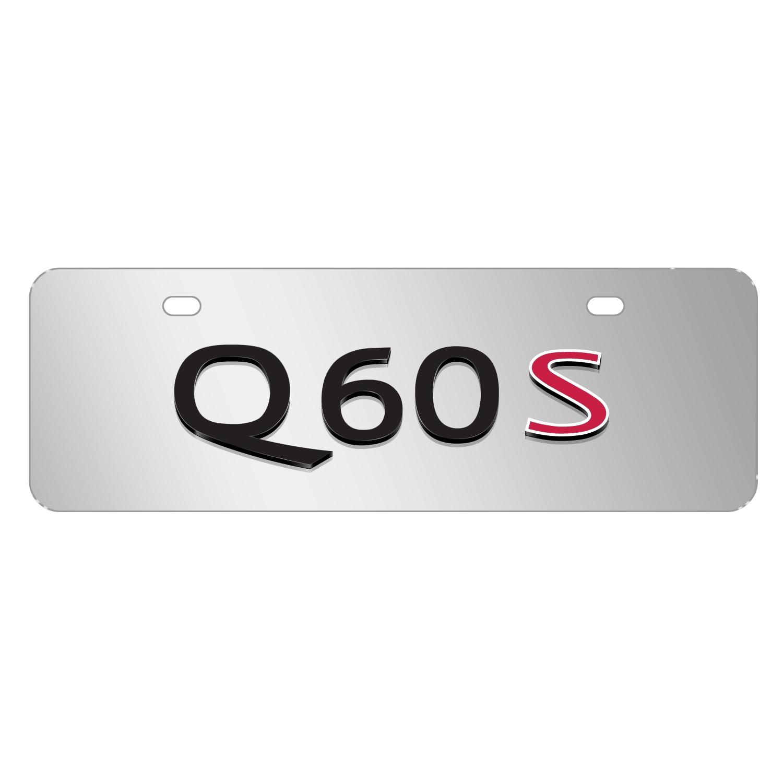 "INFINITI Q60S Name Brush 12""x4"" Half-Size Metal License Plate"