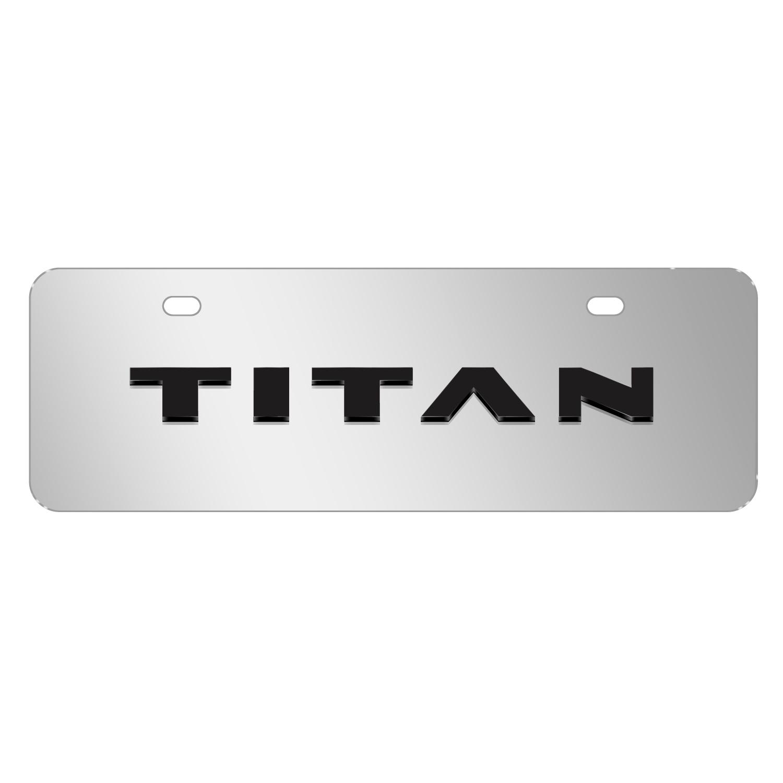 "Nissan Titan Name 3D Mirror Chrome 12""x4"" Half-Size Stainless Steel License Plate"