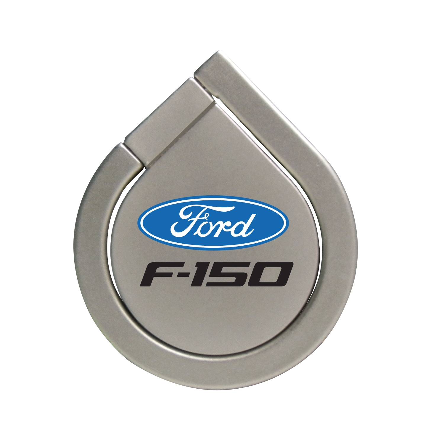 Ford F-150 Silver 360 Degree Rotation Finger Ring Holder for Cell Phone