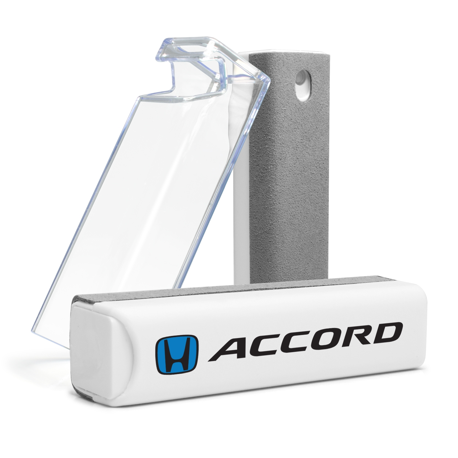 Honda Blue Logo Accord All-in-One Gray Wipe Navigation Screen Cleaner with Clear Cell Phone Stand
