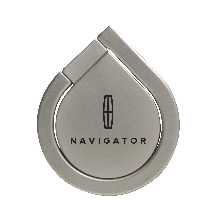 Lincoln Navigator Silver 360 Degree Rotation Finger Ring Holder for Cell Phone
