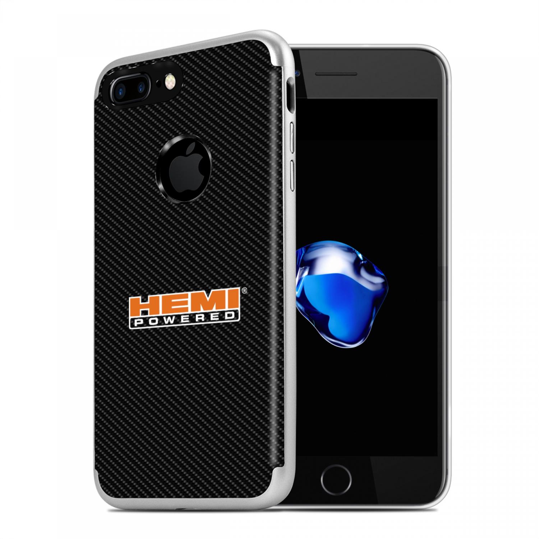 iPhone 7 Plus Case, HEMI Powered PC+TPU Shockproof Black Carbon Fiber Textures Cell Phone Case