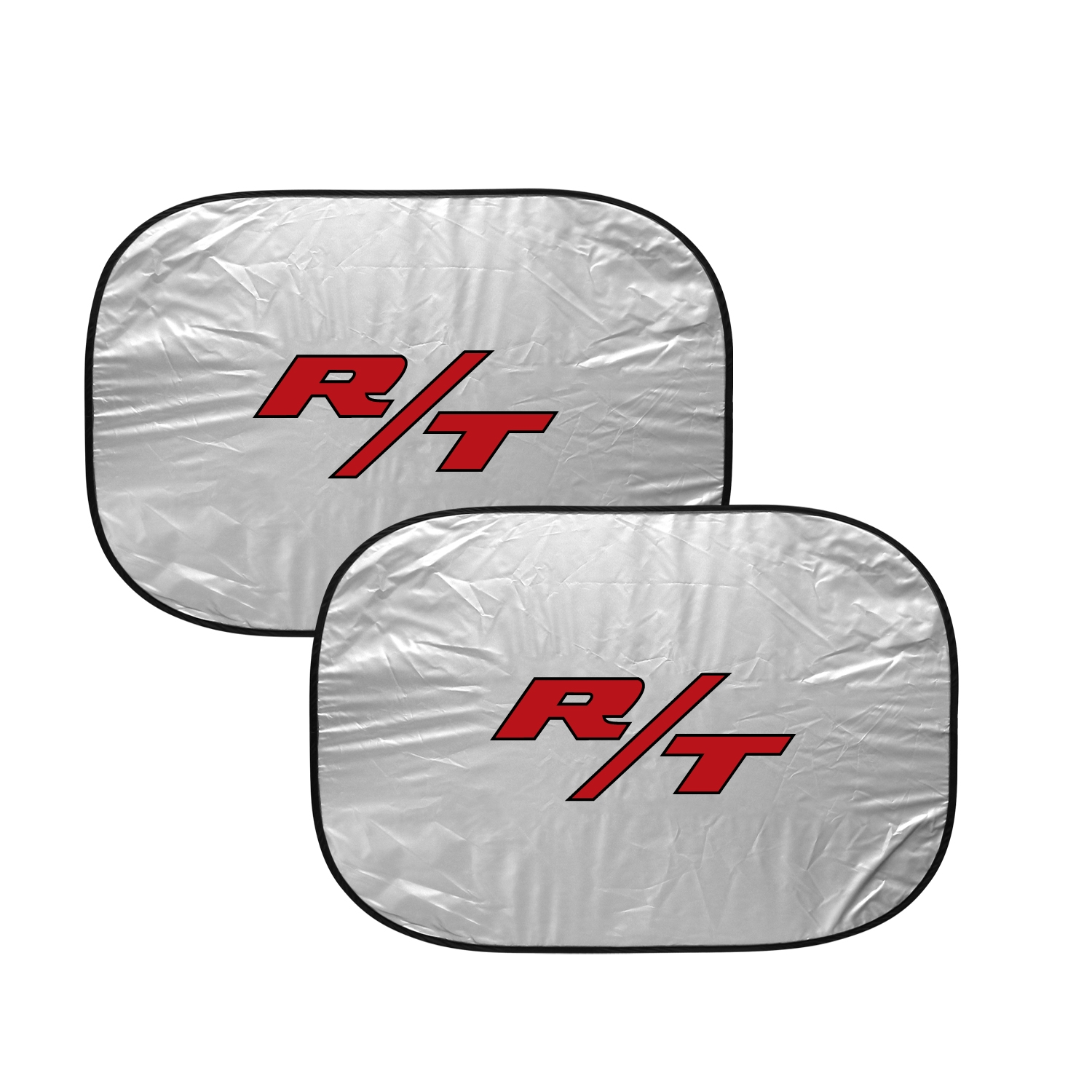 """Dodge R/T Logo Logo on Chrome 12""""x4"""" Half-Size Stainless Steel License Plate"""