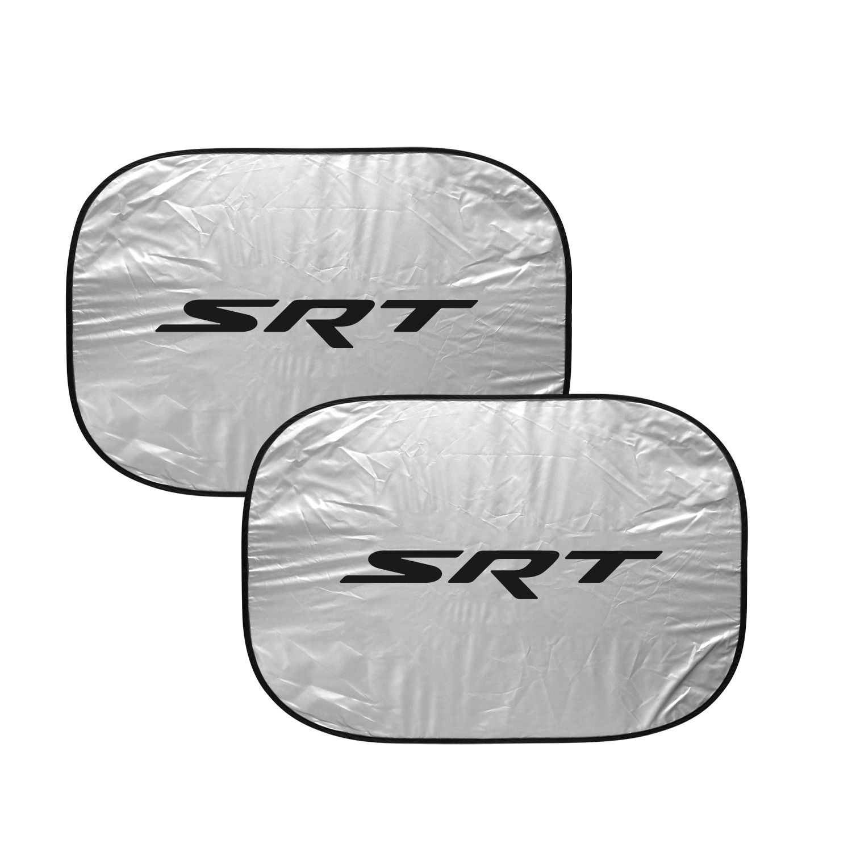 "Dodge Jeep SRT Logo Logo on Chrome 12""x4"" Half-Size Stainless Steel License Plate"