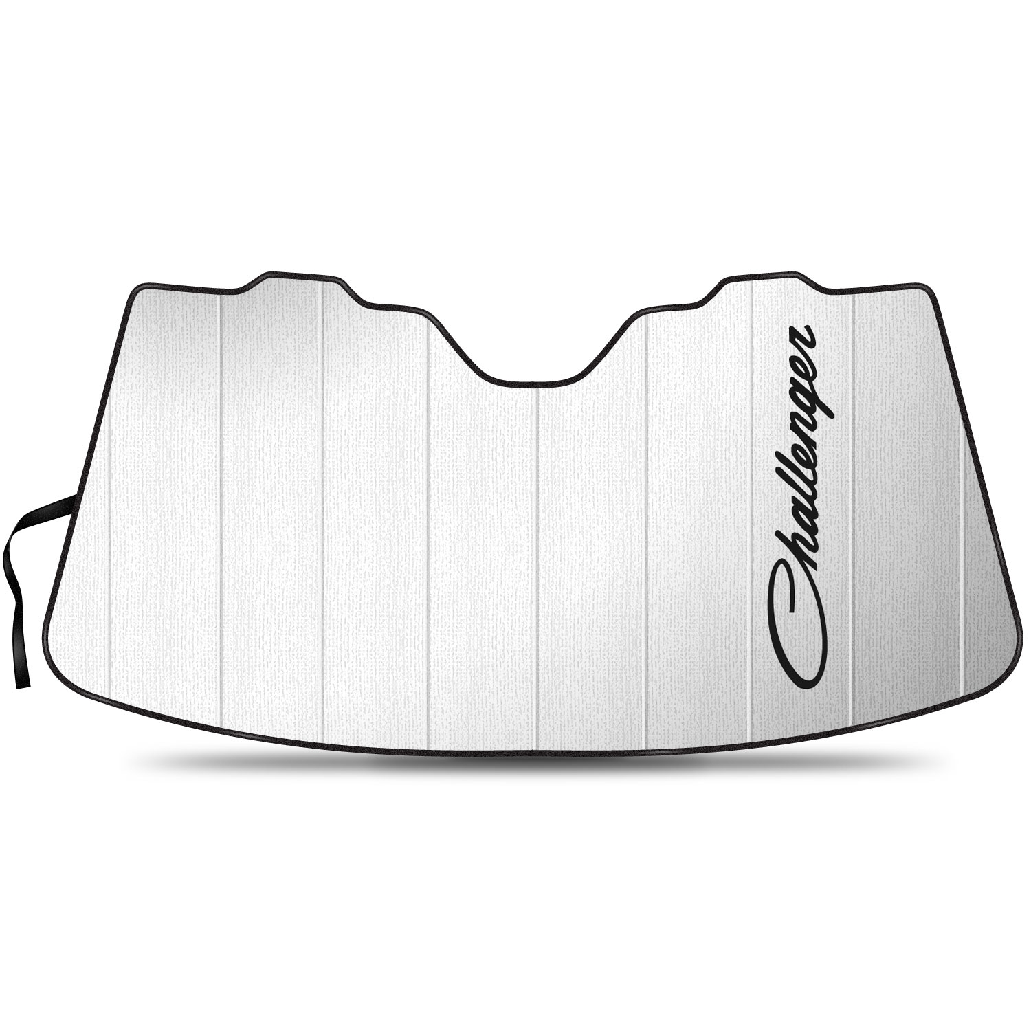 """Dodge Challenger Classic Logo 55-1/2""""x 27"""" Stand Up Universal Fit Auto Windshield Sun Shade"""