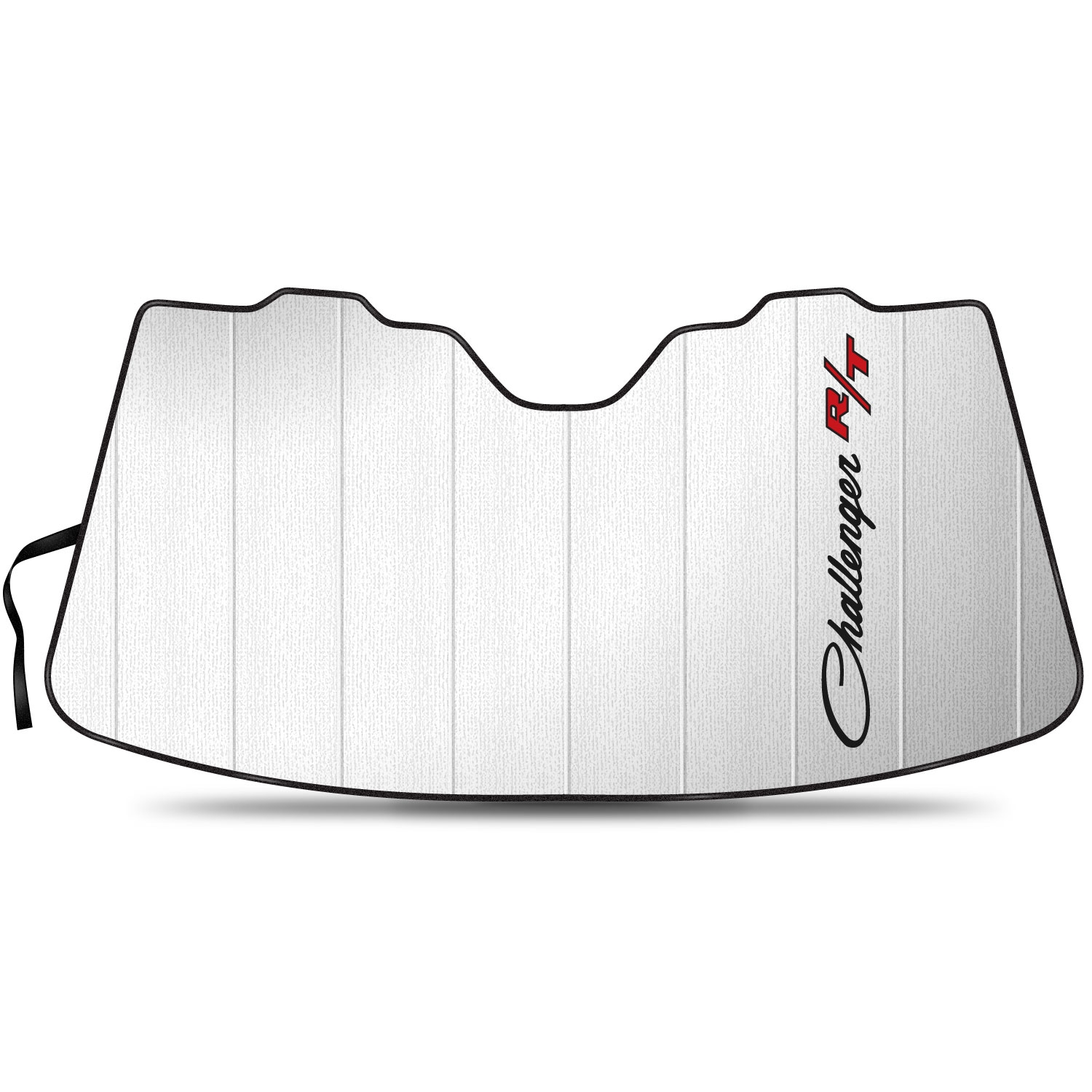 """Dodge Challenger R/T Classic Logo 55-1/2""""x 27"""" Stand Up Universal Fit Auto Windshield Sun Shade"""