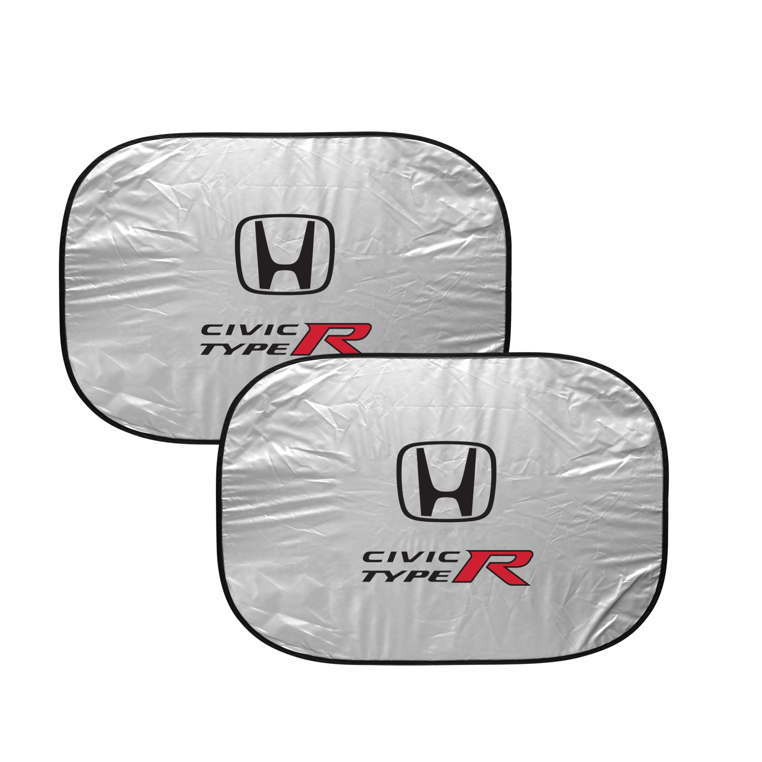Honda Civic Type-R Dual Panels Easy Folding Windshield Sun Shade for Cars and Small SUVs