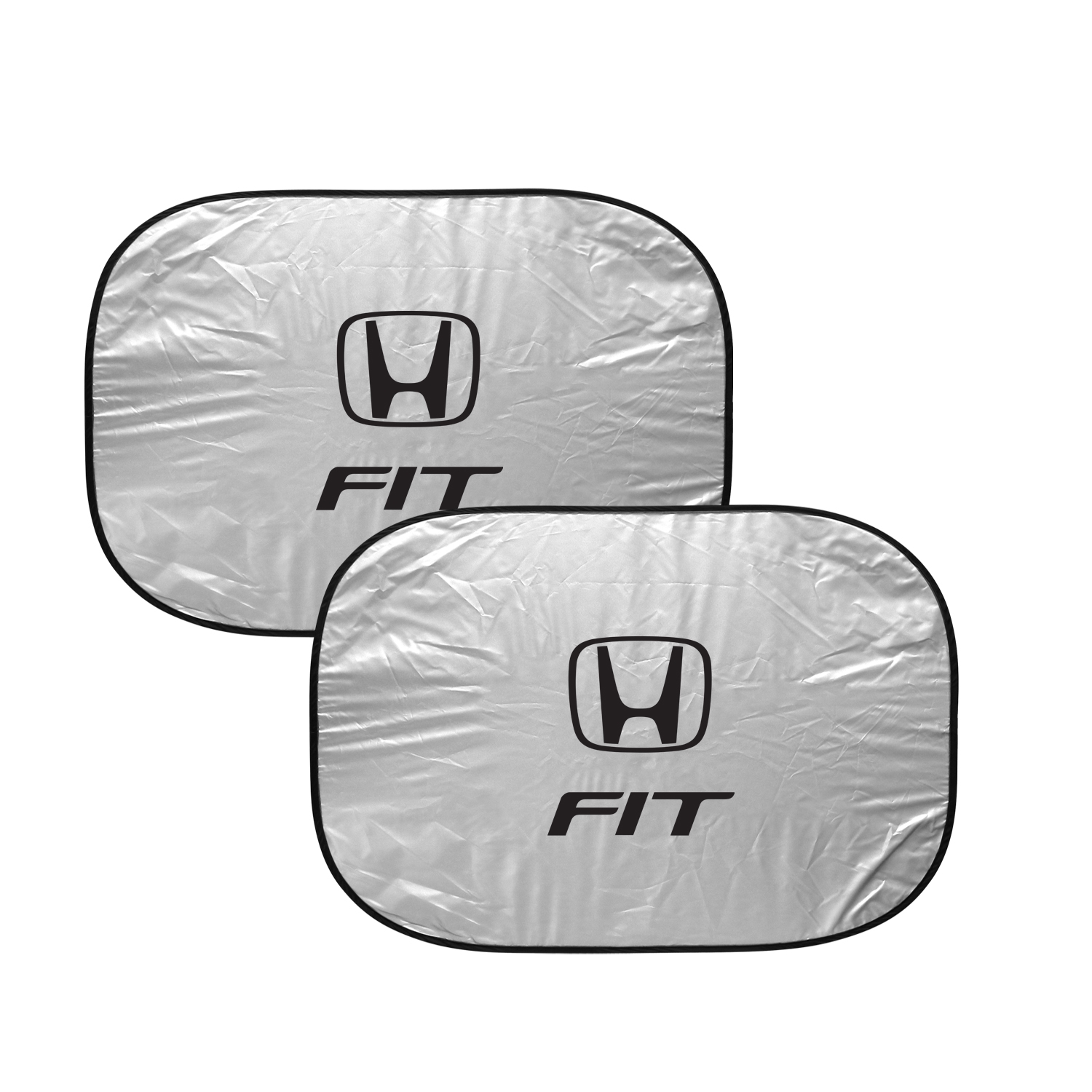 Honda Fit Dual Panels Easy Folding Windshield Sun Shade for Cars and Small SUVs