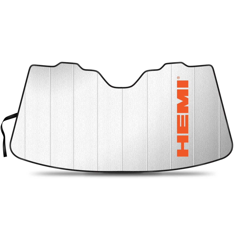 "HEMI Logo 55-1/2""x 27"" Stand Up Universal Fit Auto Windshield Sun Shade"
