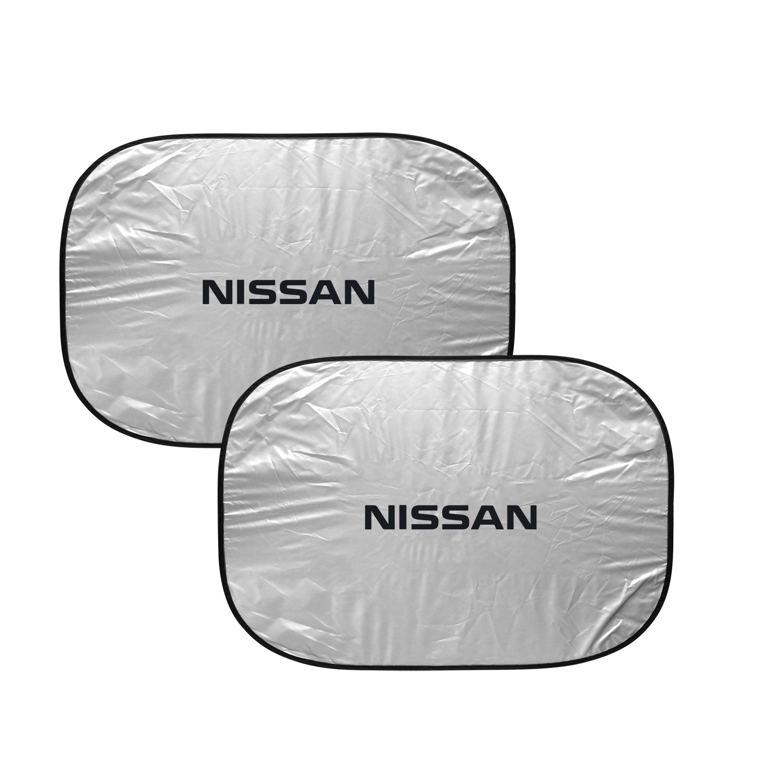 Nissan Dual Panels Easy Folding Windshield Sun Shade for Cars and Small SUVs