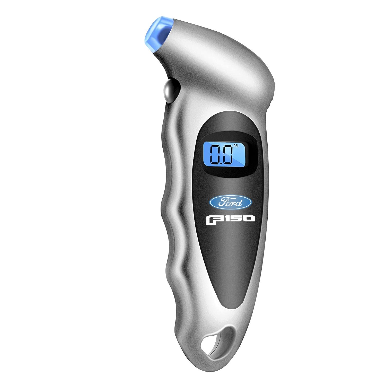 Ford F-150 2015 up Silver Black Digital Tire Pressure Gauge with LED-Backlit LCD Display