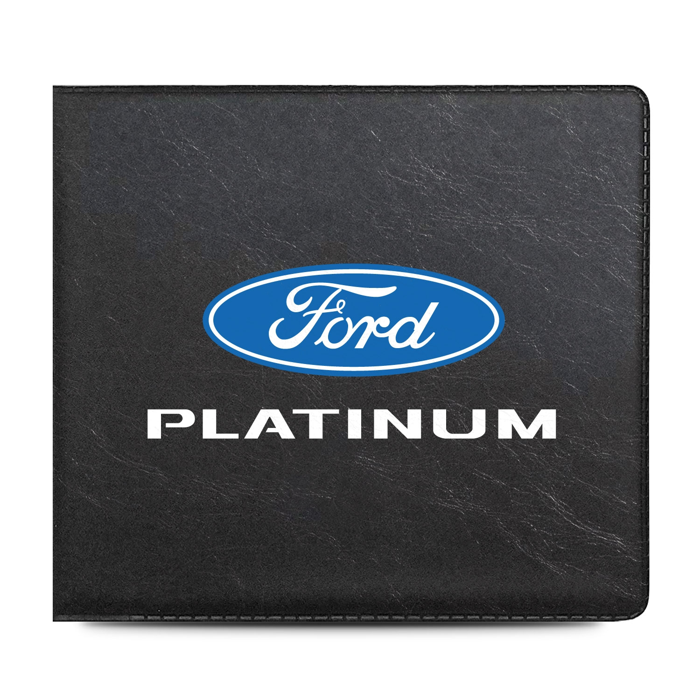 Ford F-150 Platinum Car Auto Insurance Registration Black PVC Document Holder Wallet