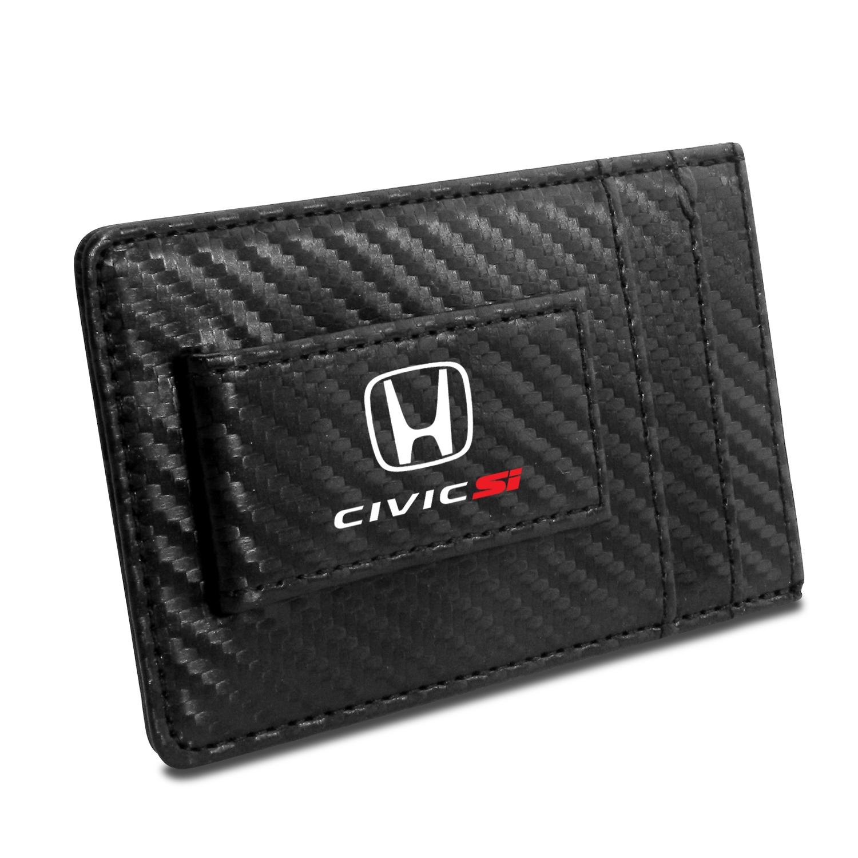 Honda Civic Si Black Carbon Fiber RFID Card Holder Wallet