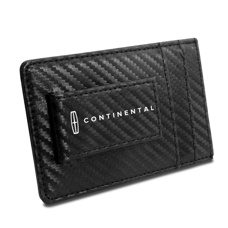 Lincoln Continental Black Carbon Fiber RFID Card Holder Wallet