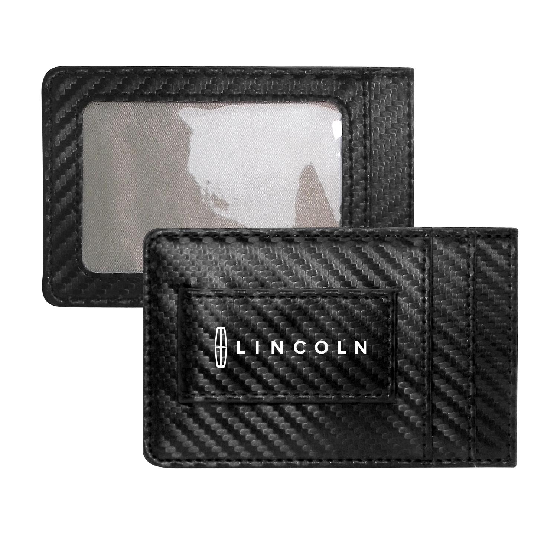 Lincoln Black Carbon Fiber RFID Card Holder Wallet