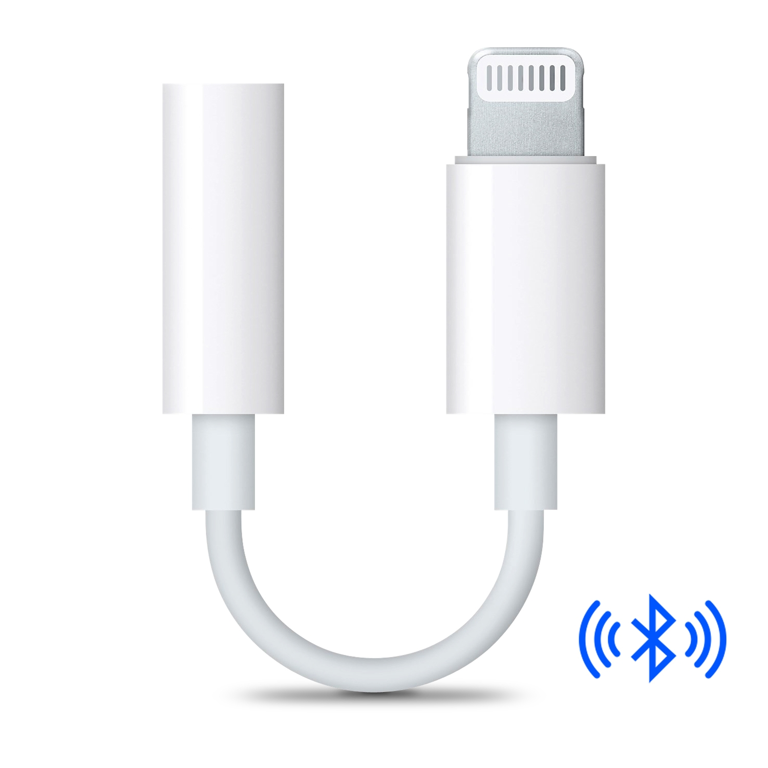 """Bluetooth Headphone Jack Adapter to 3.5mm Audio Jack Earphone Extension Cord for iPhone X/ iPhone 8/8 Plus iPhone 7/7 Plus - """"Make sure pair with your iPhone to receive calls"""""""