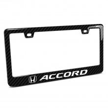 Honda Accord Black Real 3K Carbon Fiber Finish ABS Plastic License Plate Frame
