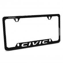 Honda Civic Black Real Carbon Fiber 50 States License Plate Frame