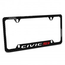 Honda Civic Si Black Real Carbon Fiber 50 States License Plate Frame