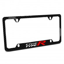 Honda Civic Type R Black Real Carbon Fiber 50 States License Plate Frame