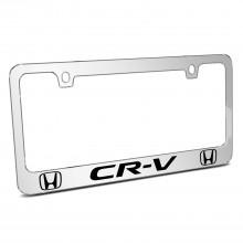 Honda CR-V Dual Logo Mirror Chrome Metal License Plate Frame