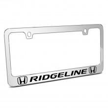Honda Ridgeline Dual Logo Mirror Chrome Metal License Plate Frame