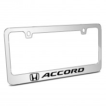 Honda Accord Mirror Chrome Metal License Plate Frame
