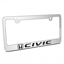 Honda Civic Mirror Chrome Metal License Plate Frame