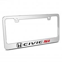 Honda Civic Si Mirror Chrome Metal License Plate Frame