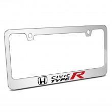 Honda Civic Type R Mirror Chrome Metal License Plate Frame