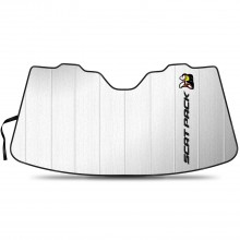 """Dodge Scat-Pack Full Color Logo 55-1/2""""x 27"""" Stand Up Universal Fit Auto Windshield Sun Shade"""