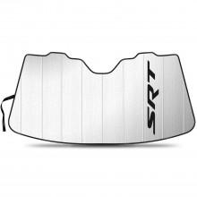 "SRT Logo Logo on Chrome 12""x4"" Half-Size Stainless Steel License Plate for Dodge Jeep"